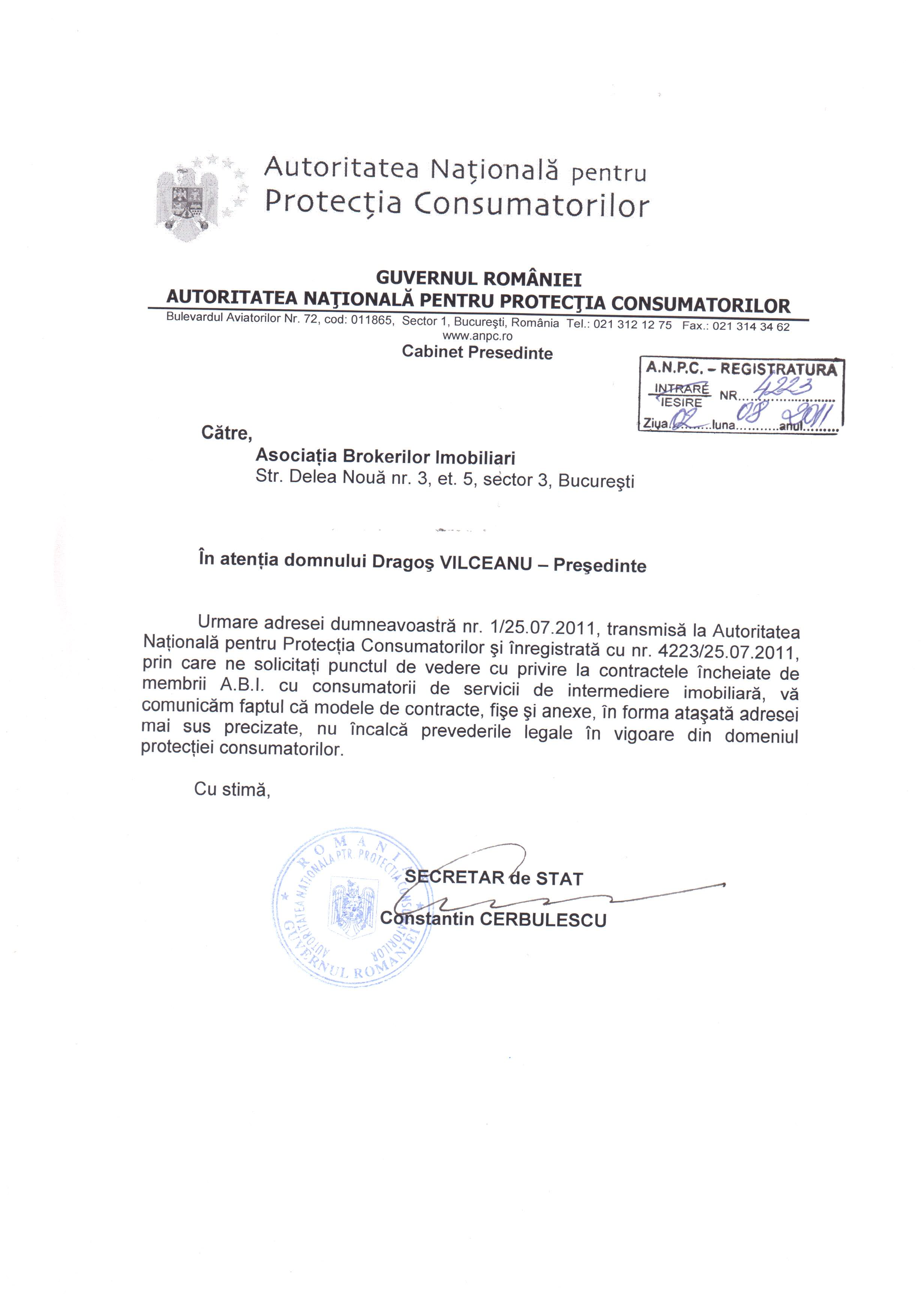 Contractele ABI au primit avizul ANPC