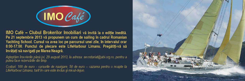 IMO Cafe – CLUBUL BROKERILOR IMOBILIARI va invita la cursuri de sailing